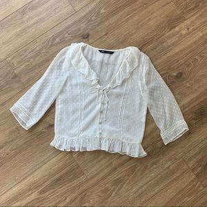Dainty white Zara top